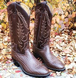 🥀TONY LAMA Brown Croc Western Cowboy Boots 9.5D